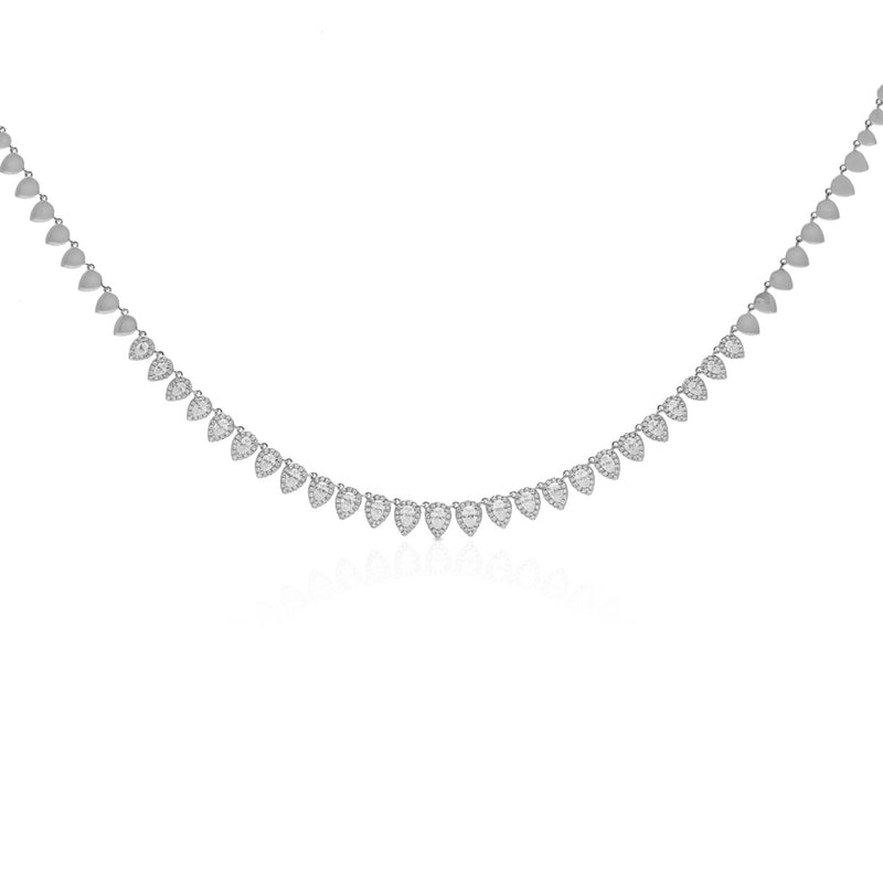 14KT White Gold Diamond Dakota Necklace