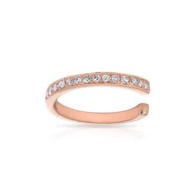 14KT Rose Gold Diamond Mia Ear Cuff