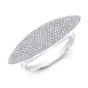 14KT White Gold Diamond Capri Ring