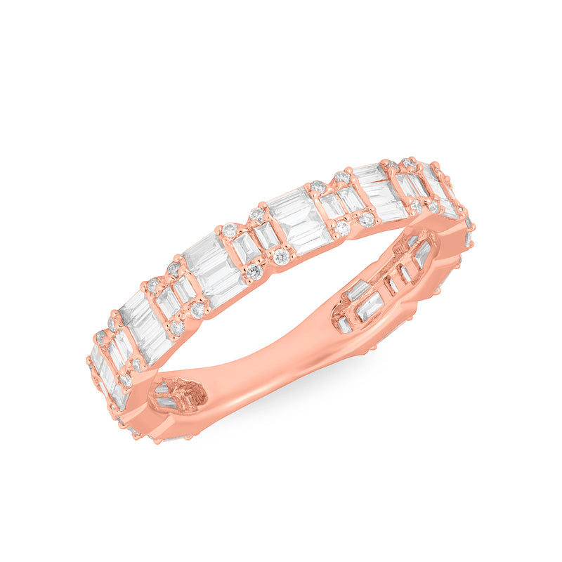 14KT Rose Gold Baguette Diamond Katelyn Ring