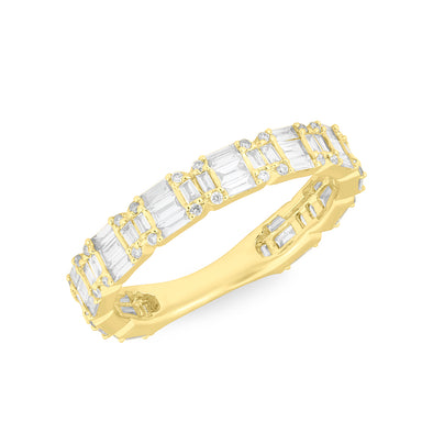 14KT Yellow Gold Baguette Diamond Katelyn Ring