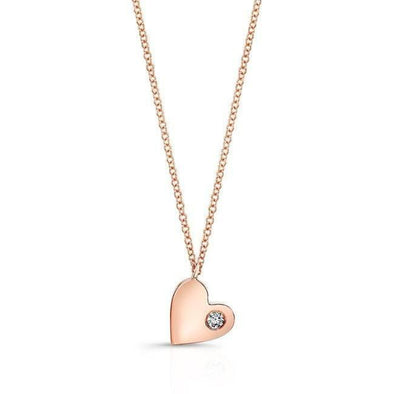 14KT Rose Gold Diamond In My Heart Necklace