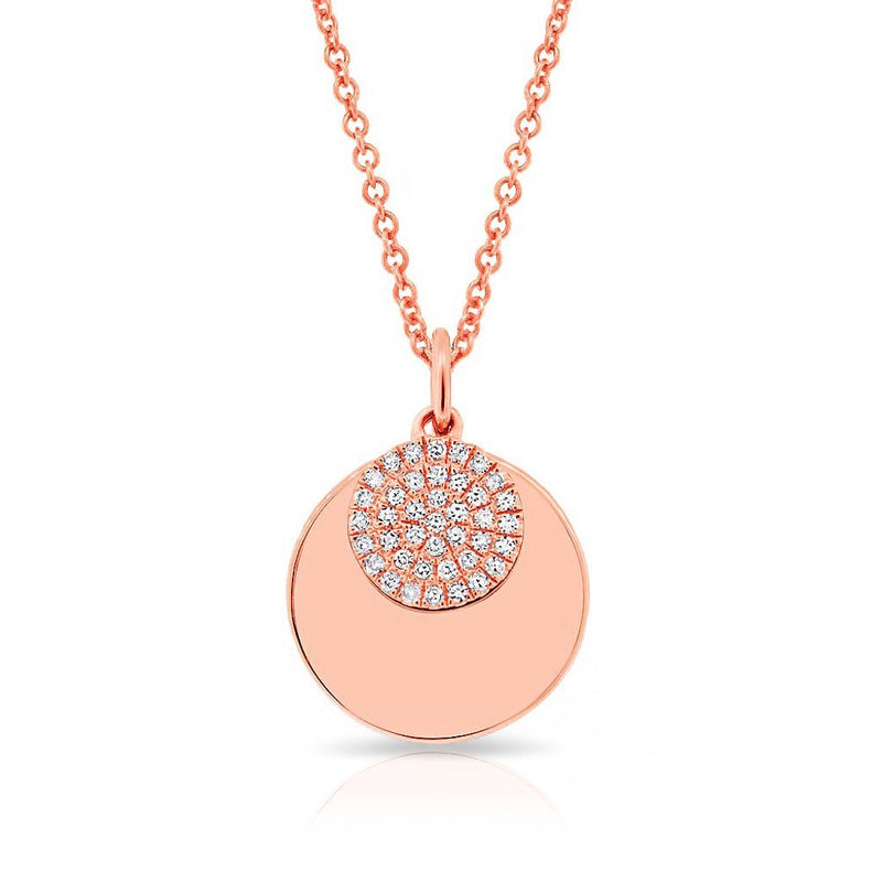 14KT Rose Gold Diamond Simone Necklace
