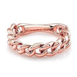 14KT Rose Gold Thin Chain Link Ring