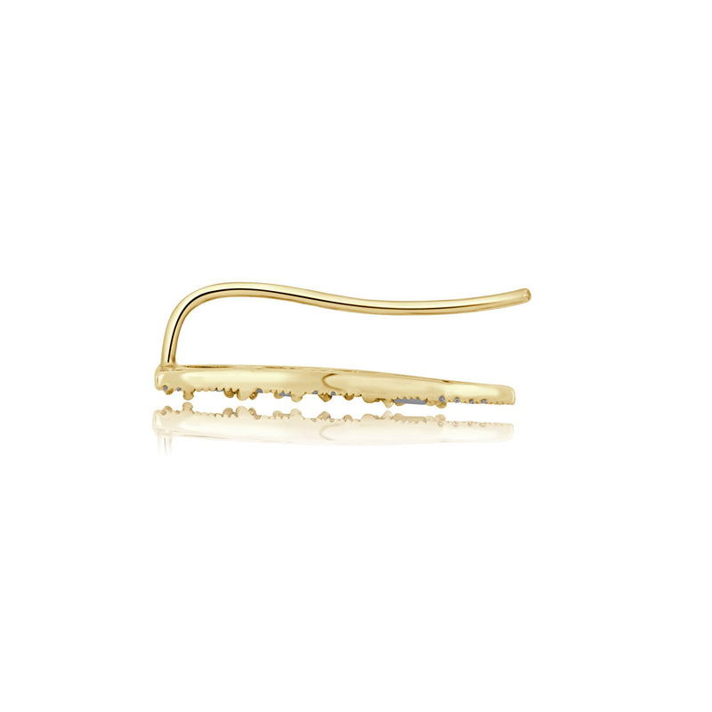 14KT Yellow Gold Diamond Stars Ear Climber-Anne Sisteron