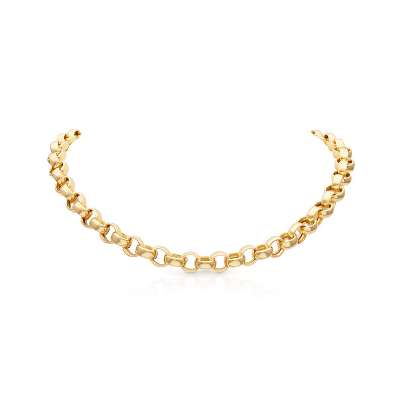"14KT Yellow Gold Chain Link Delphine 18"" Necklace"