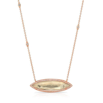 14KT Rose Gold Triple Diamond Chain Serena Necklace