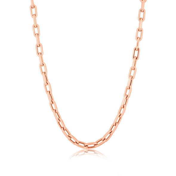 14KT Rose Gold Chain Link Lillian Necklace