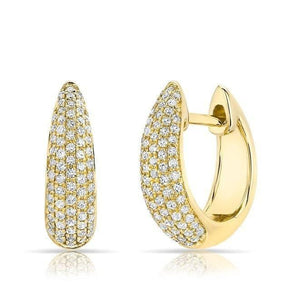 14KT Yellow Gold Diamond Gwyneth Huggie Earrings