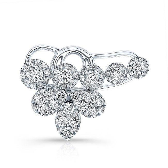 18KT White Gold Diamond Carrie Ear Cuff