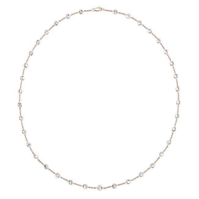 "14KT Rose Gold Precious Topaz 20""  Necklace"