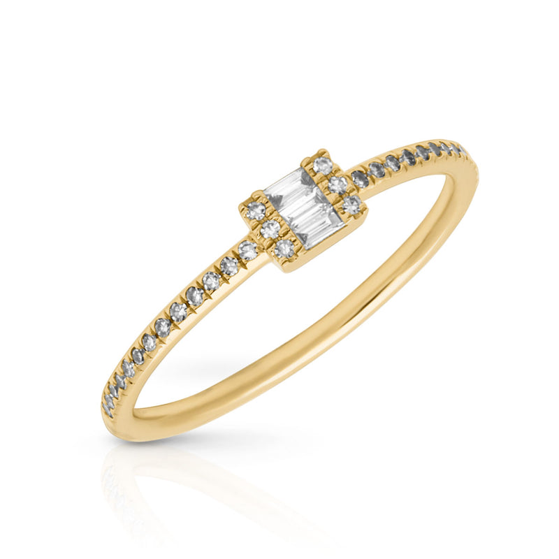14KT Yellow Gold Baguette Diamond Briella Ring