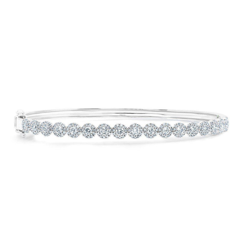 14KT White Gold Diamond Kira Bangle
