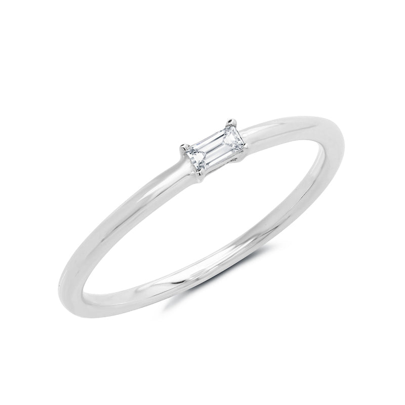 14KT White Gold Baguette Diamond Layla Ring