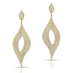14KT Yellow Gold Diamond Masquerade Earrings