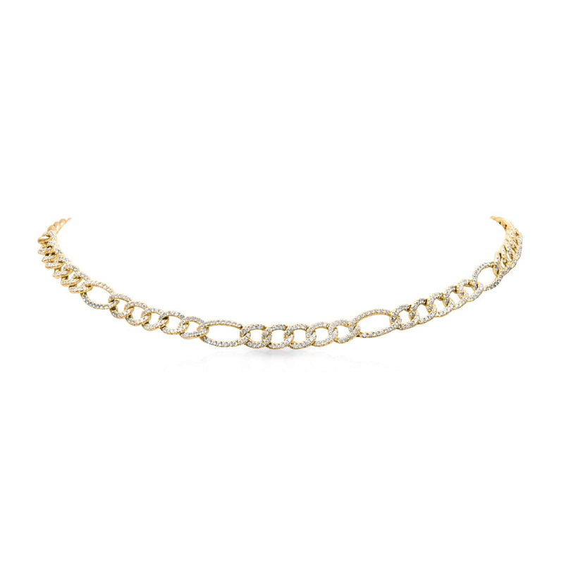 14KT Yellow Gold Diamond Aviana Chain Link Necklace