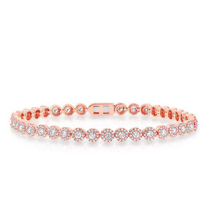 14KT Rose Gold Diamond Love Collection Luxe Tennis Bracelet