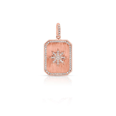 14KT Rose Gold Diamond Star Charmed Pendant