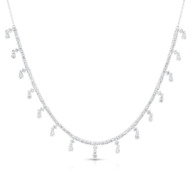 14KT White Gold Diamond Victoria Necklace