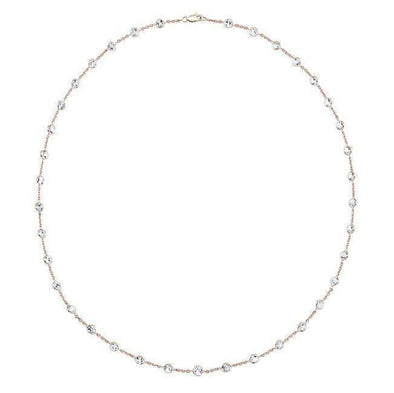 "14KT Rose Gold Precious Topaz 40"" Necklace"