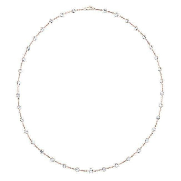 "14KT Rose Gold Precious Topaz 36"" Necklace"