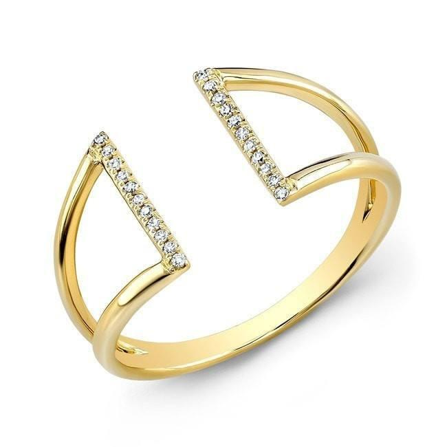 14KT Yellow Gold Diamond Space Ring