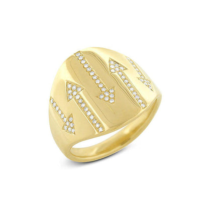 14KT Yellow Gold Diamond Allie Arrow Ring-Anne Sisteron