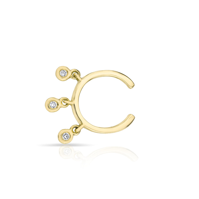 14KT Yellow Gold Diamond Nile Ear Cuff