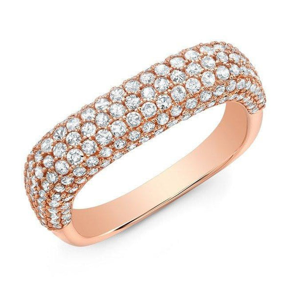 14KT Rose Gold Luxe Diamond Square Ring