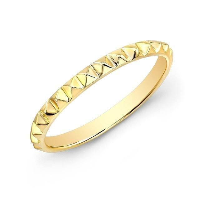 14KT Yellow Gold Pyramid Stacking Ring