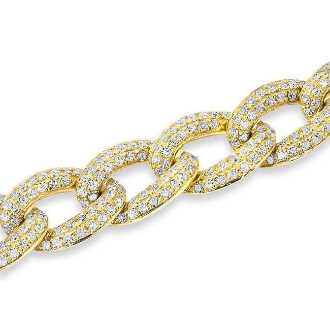 14KT Yellow Gold Diamond Chain Link Magnificence Bracelet