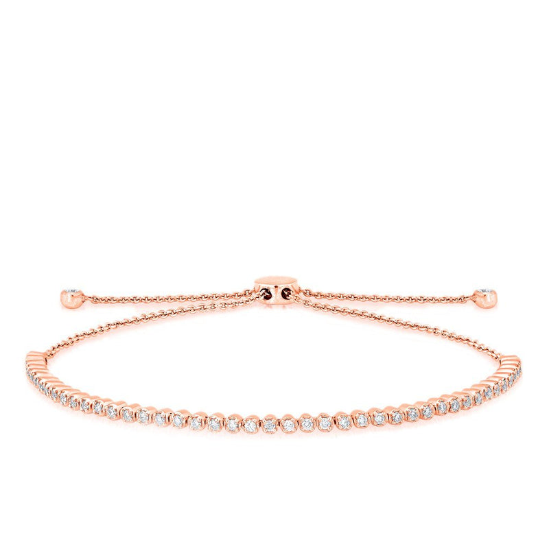 14KT Rose Gold Diamond Brittany Tennis Tie Up Bracelet