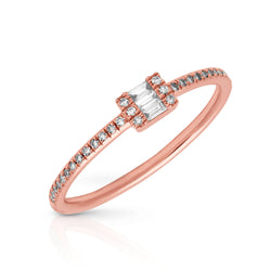 14KT Rose Gold Baguette Diamond Briella Ring