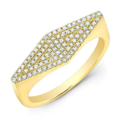 14KT Yellow Gold Diamond Kite Ring