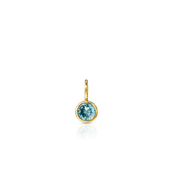 14KT Yellow Gold Aquamarine Bezel Charm