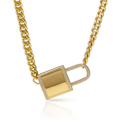 14KT Yellow Gold Diamond Luxe Lovelock Necklace