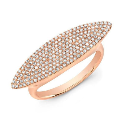 14KT Rose Gold Diamond Capri Ring