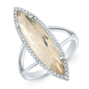 white gold diamond topaz small serena ring