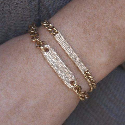 14KT Rose Gold Diamond Luxe ID Bracelet