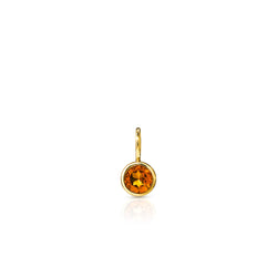 14KT Yellow Gold Citrine Bezel Charm