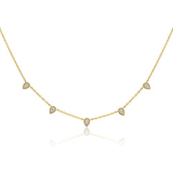 14KT Yellow Gold Diamond Mona Necklace
