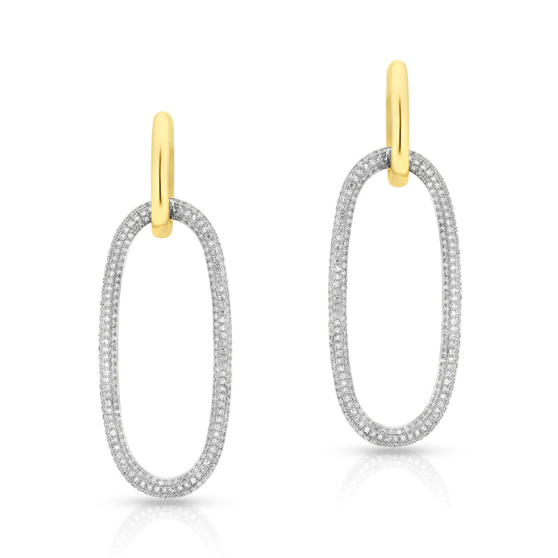 14KT Yellow Gold Diamond Luxe Janesse Earrings