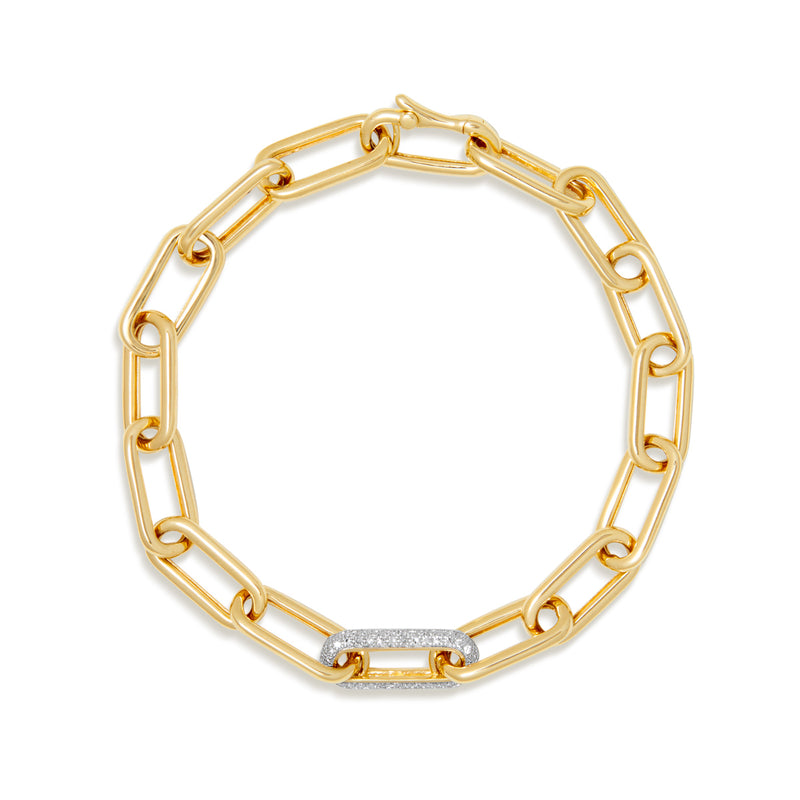 14KT Yellow Gold Diamond Chain Link Bianca Bracelet