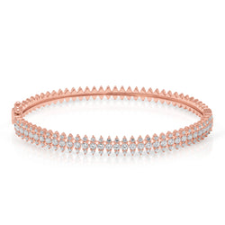 14KT Rose Gold Diamond Luxe Queen Bangle Bracelet