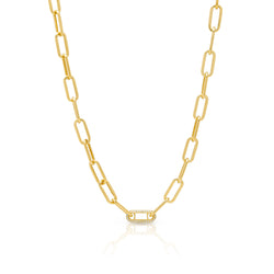 14KT Yellow Gold Diamond Chain Link Bianca Necklace