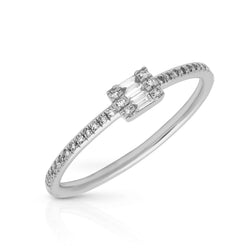 14KT White Gold Baguette Diamond Briella Ring