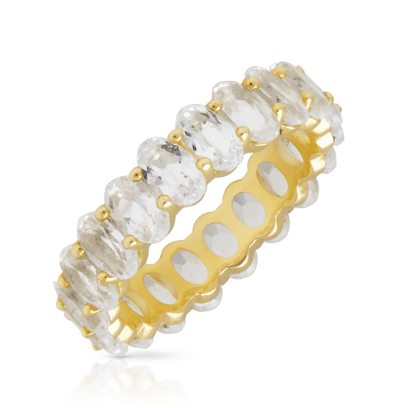 14KT Yellow Gold Pear Topaz Eternity Ring