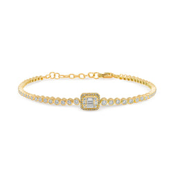 14KT Yellow Gold Baguette Diamond Luxe Colette Bracelet