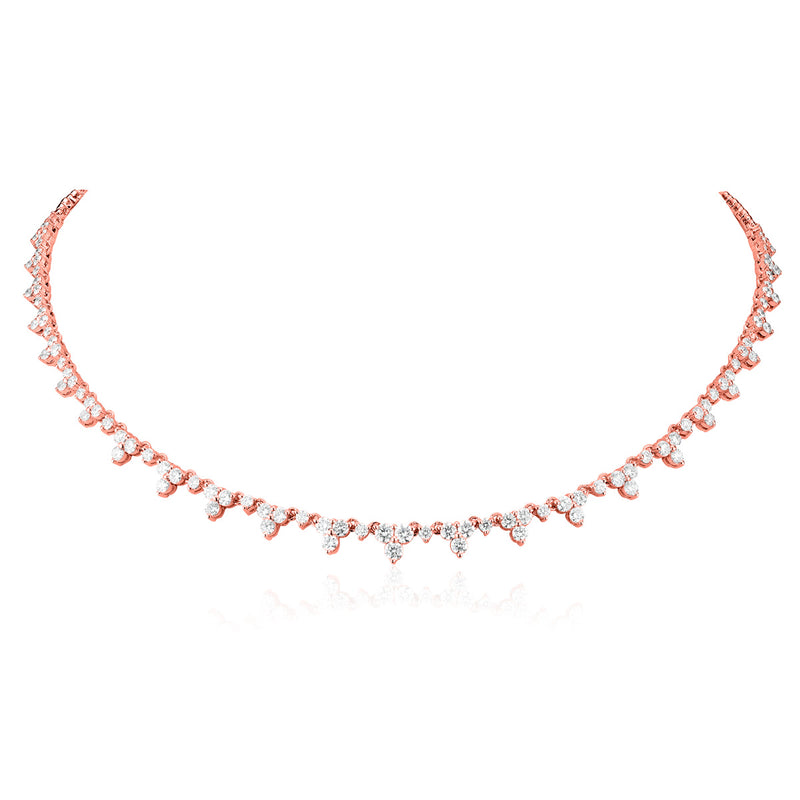 14KT Rose Gold Diamond Luxe Clara Necklace