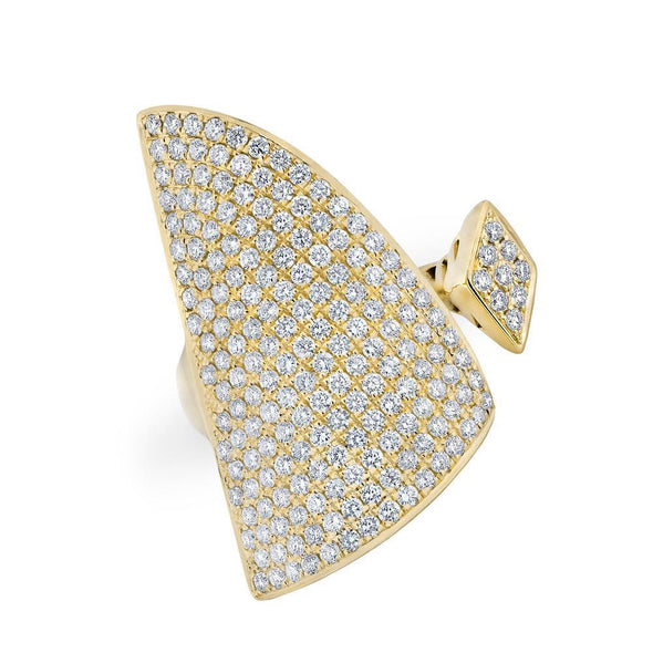 14KT Yellow Gold Diamond Valkyrie Ring